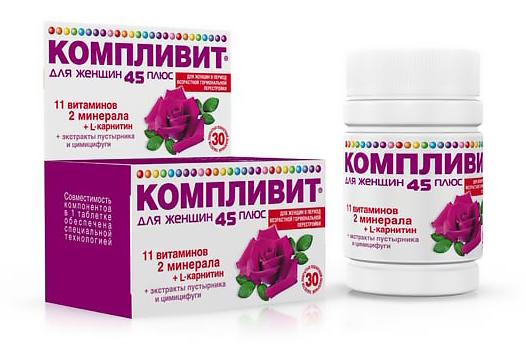 Лучшие витамины женщин 45 лет