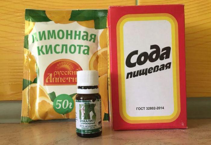 чистка унитаза от известковых отложений содой и лимоной кислотой