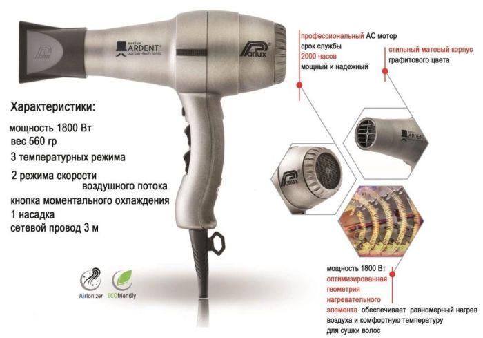 устройство фена для волос
