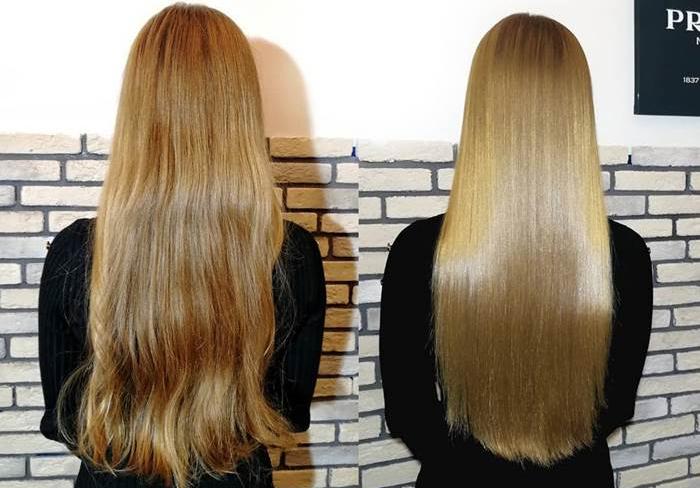 результат выпрямления волос нанопластиой